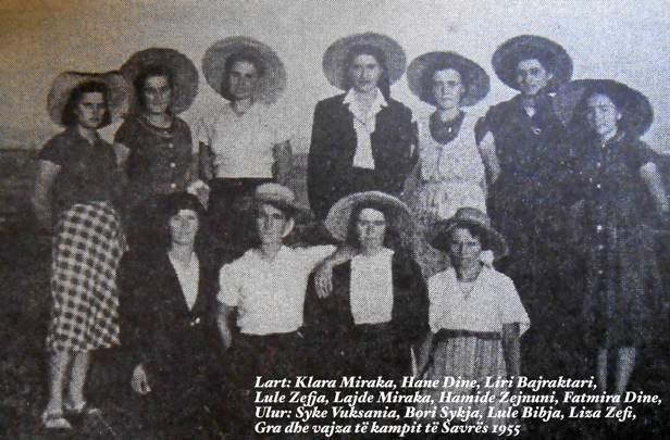 Vajza dhe gra të Savrës viti 1955