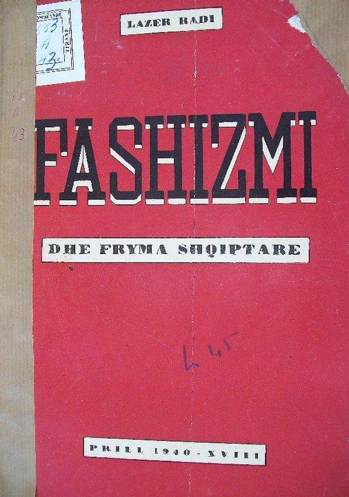 Fashizmi Parathania nga Vangjel Koça
