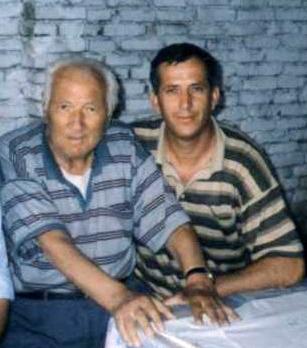 Lazër dhe  Jozef Radi foto e fundit bashkë 1998