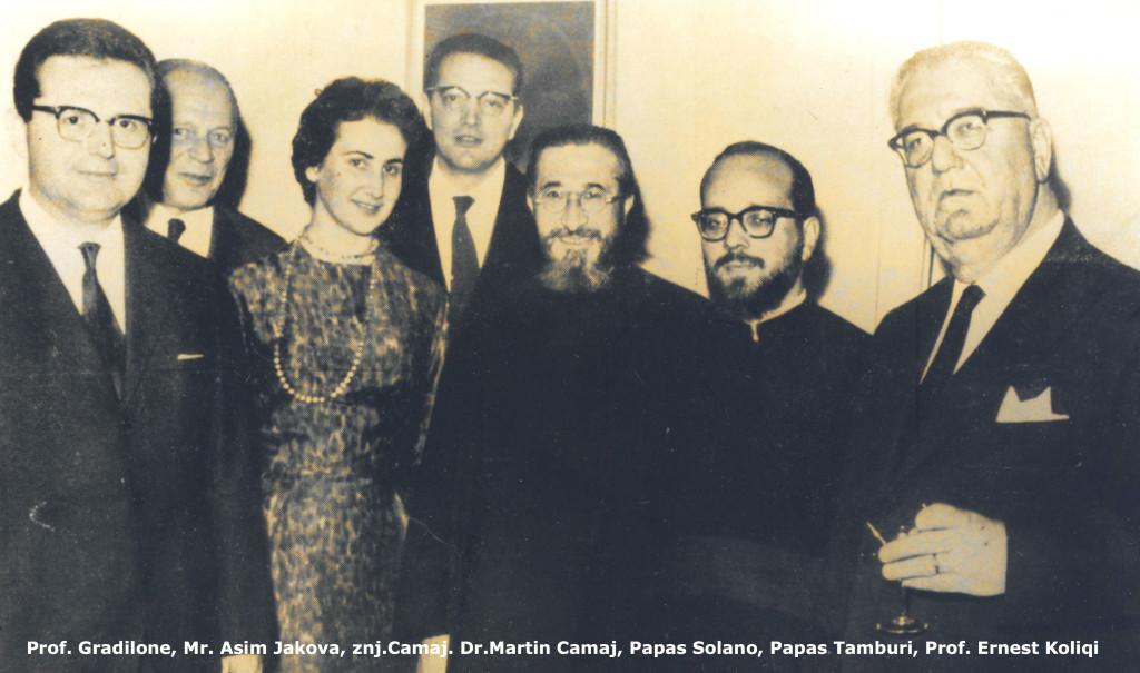 Prof. Koliqi, Dr. Camaj, Gradilione e të tjerë..