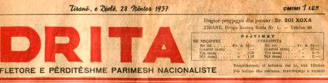 Gazeta Drita viti 1937
