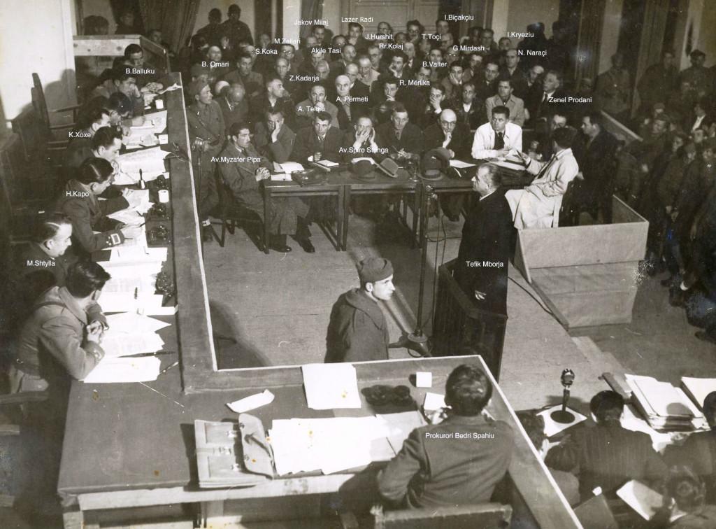 Pamja e sallës së Gjyqit Special