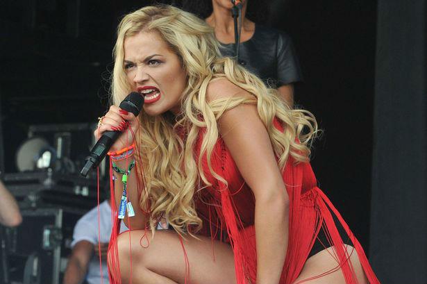 Rita Ora gjatë koncertit
