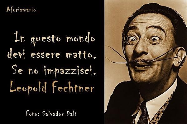 """""""Në kët botë duhet të jeshë i çmendun, perndryshe... të çmendin"""" Fechtner - foto Dalì"""