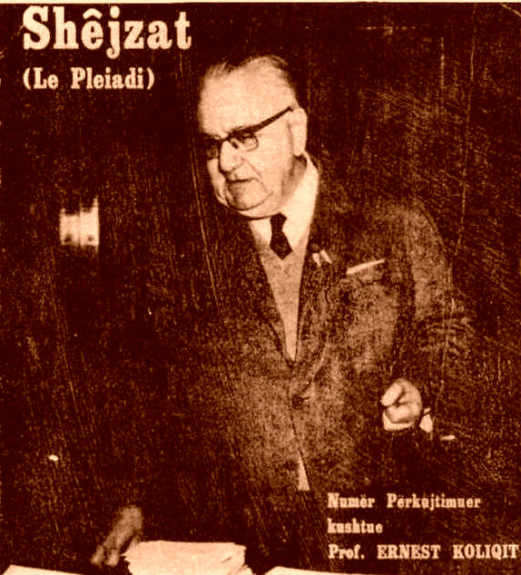 "Ernest Koliqi - drejtues i ""Shejzave"""