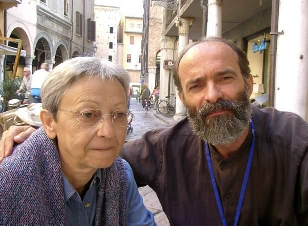 Poeti Gëzim Hajdari dhe kritikja Elia Malagò