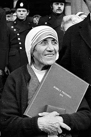 Nënë Tereza dhe Nobeli i Paqes 1979