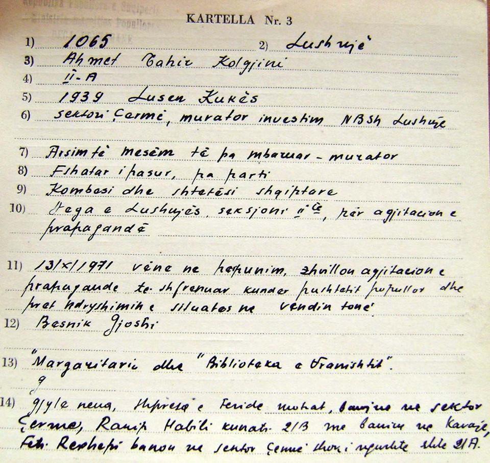Skeda 1065 (Ahmet Tahir Kolgjini)