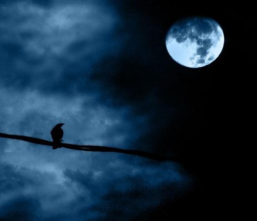 Natë vetmie me hënë