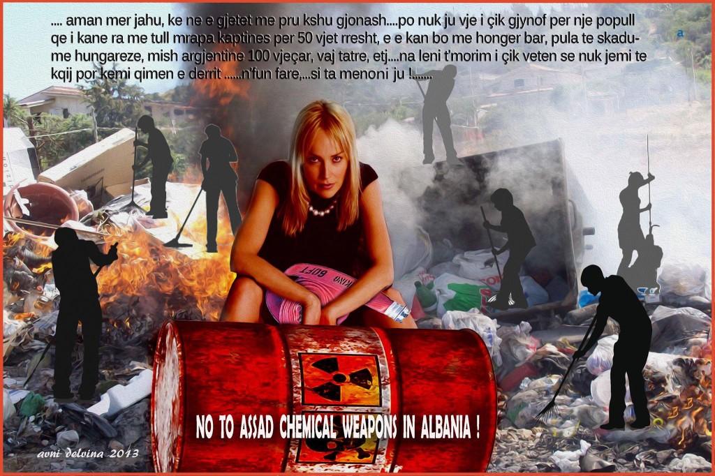 Avni Delvina - Grafikë kundër mbetjeve toksike në Shqipëri!
