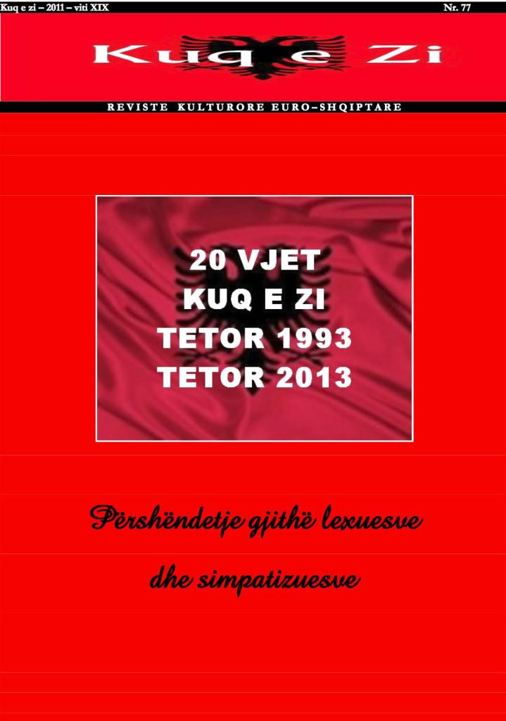 """Numri jubilar i revistës """"Kuq e zi"""""""