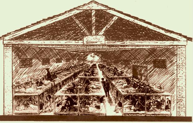 Kampi Tepelenës (skicë nga Lek Pervizi)