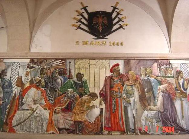 Kuvendi i Lezhës (pikturë Kala e Krujës)