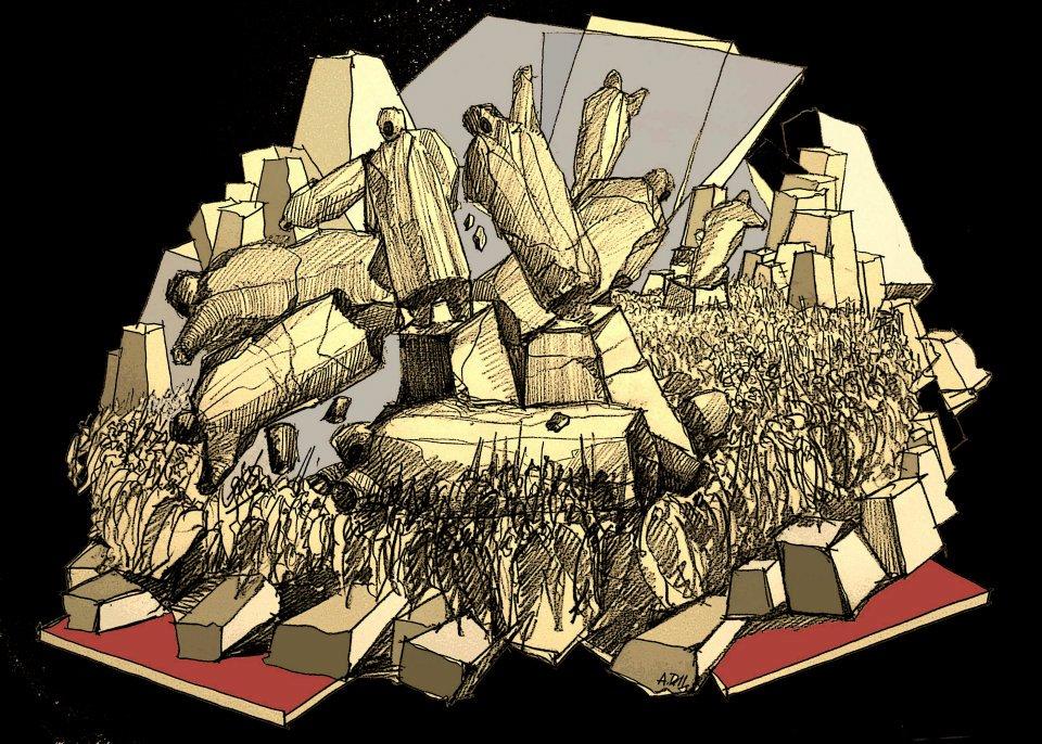 Monumentet grafike nga Avni Delvina