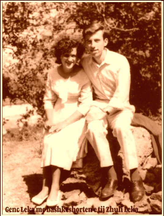 Poeti Genc Leka dhe e shoqja Eleni Rodhe