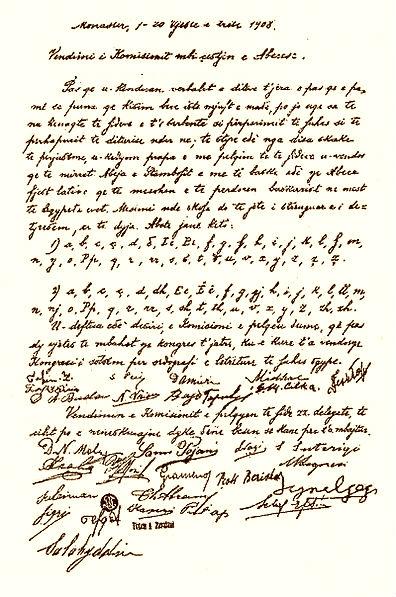 Vendimi i Alfabetit dhe Firmataret