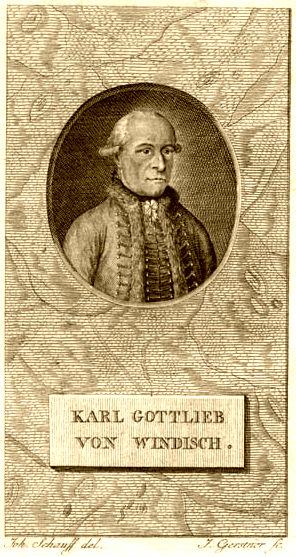 Karl Gottlieb von Windisch (1725-1793)