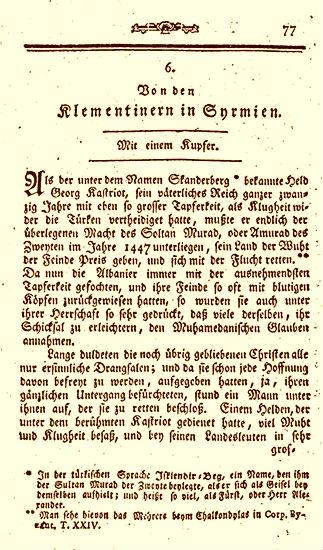 Shkrimi i Karl Gottlieb von Windisch