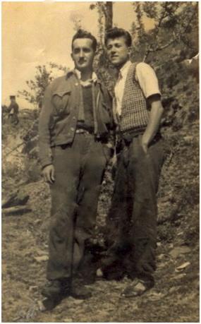 Të internuar, Valentin Pervizi e Gjosho Vasija, Corovodë, 1954