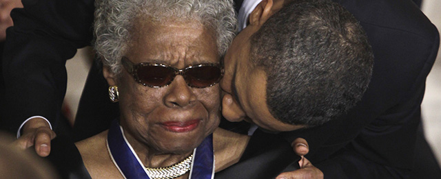 Puthja e Obames ne Faqen e AngelouBarack Obama, Maya Angelou