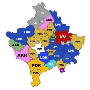 Harta e zgjedhjeve dhe prognoza 2014