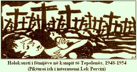 Holokausti i Foshnjave (skicë nga Lek Pervizi)