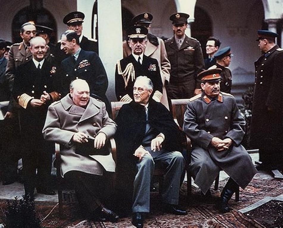 Konferenca e Yaltes 1945 - Churchill - Roosevelt - Stalin