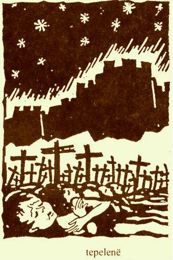 Holokausti i Foshnjave - Tepelenë (skica Lek Pervizi)