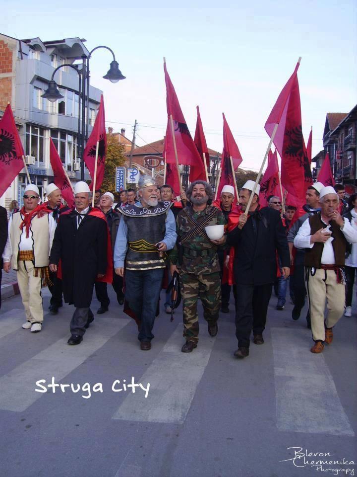 Manifestimi protestues në Strugë.