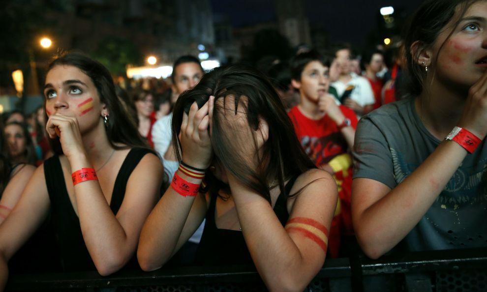 Dëshpërimi i spanjolleve në Botëror