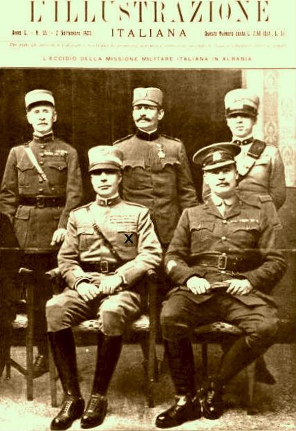 Ushtarakë italianë, me x Gjen. Enrico Tellini