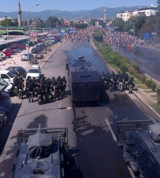 Protesta e 4 korrikut ne Shkup