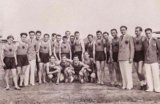 """Vasfi Samimi - Kryetar i ekipit """"Olimpik"""" Shqiponjat Dykrenare - Zagreb, 1936."""