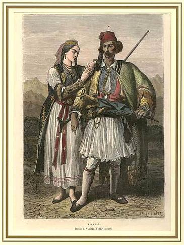 Çift shqiptarësh nga Jugu - P. Fritel, 1878
