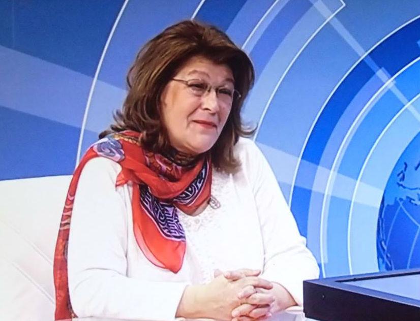 Justina Aliaj në studio televizive