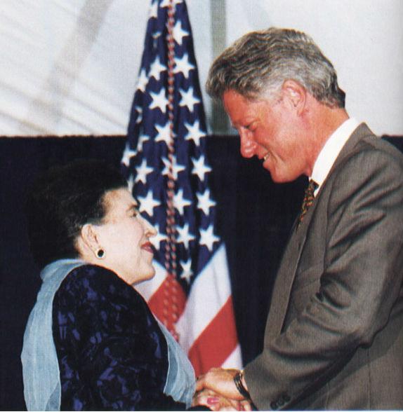 Licia Albanese & Bill Clinton