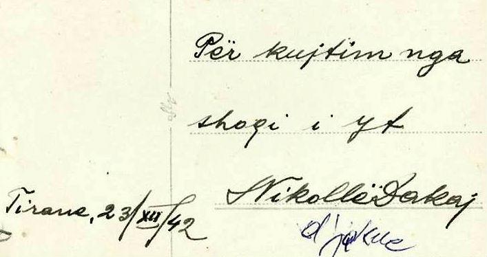 Nikoll Dakaj - Shkrimi dhe firma (e fotos)