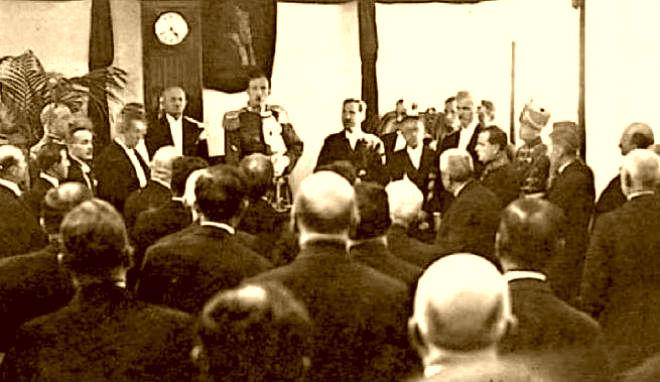 Ahmet Zogu në Parlament 1928