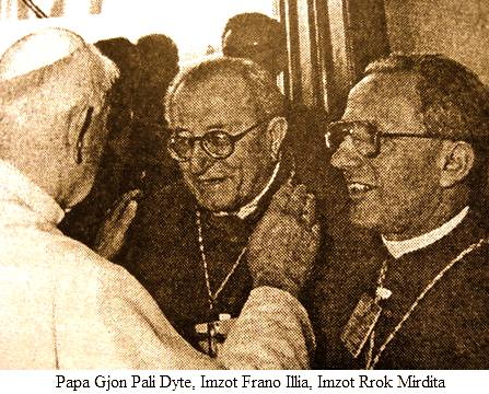 Papa Gjon Pali i II Imzot Frano Illia e Imzot Rrok Mirdita 1993