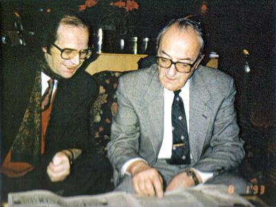 Presidenti Rugova dhe Prof. Sami Repishti 1993