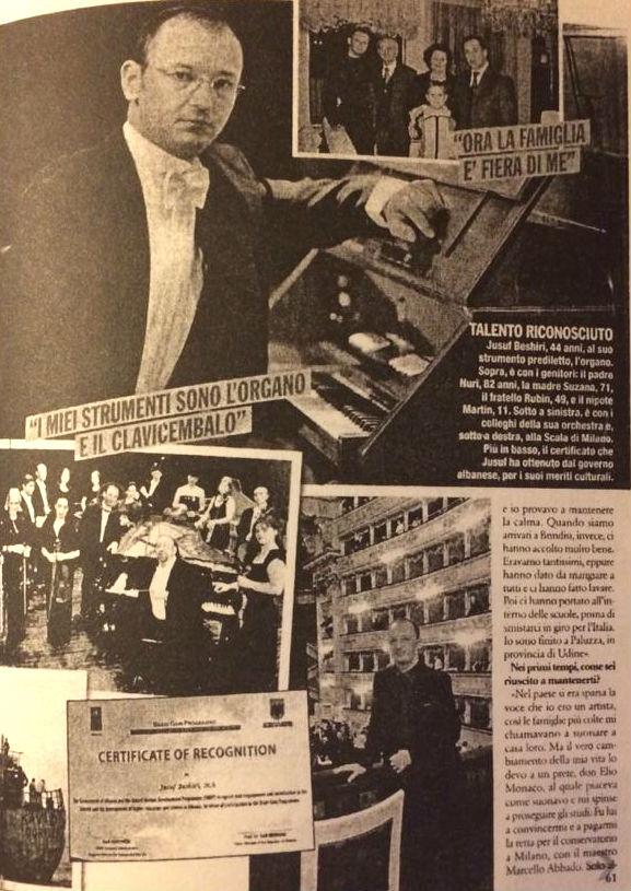 """Jusuf Beshiri - Interviste te """"Corriere della Sera"""" 1991"""