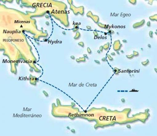 Harta e zonës së ishujve grekëe