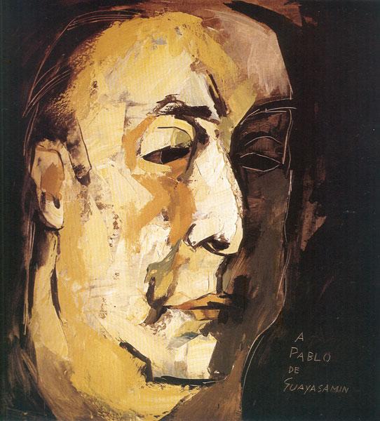 Pablo Neruda (pikture Guayasamin)