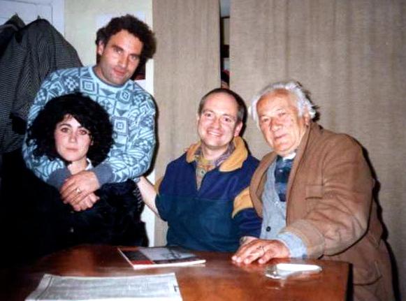 Visari dhe Eda në 1993, me Elsienë dh Lazrin