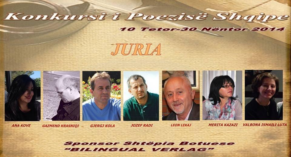 """Juria e Konkursit """"Poezia Shqipe 2014"""""""