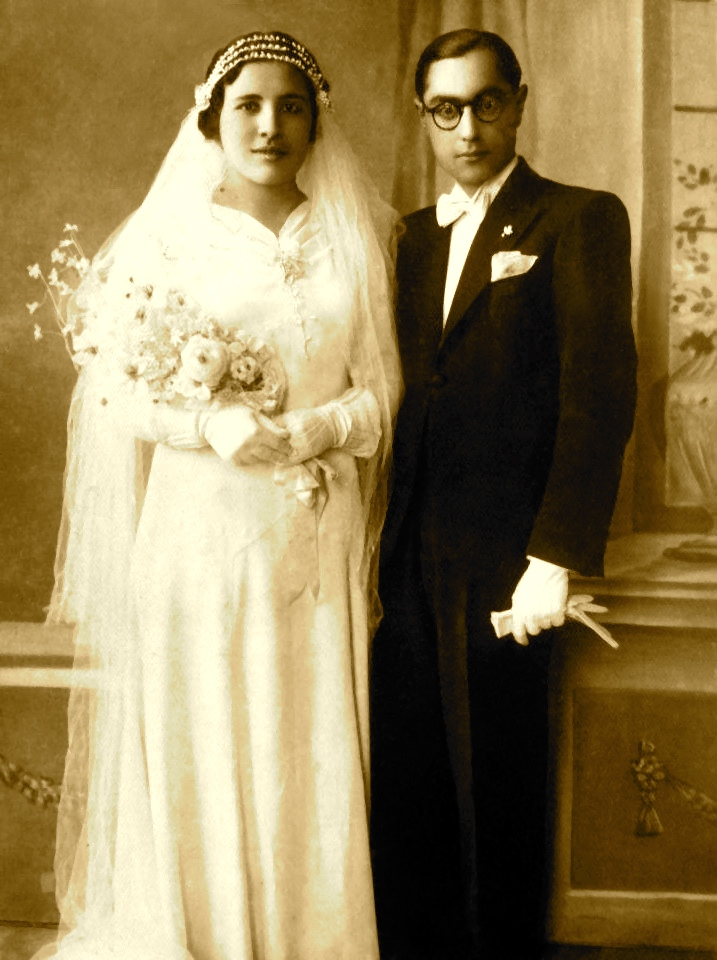 Ilia Matathia e Hrisi Kohen, ditën e martesës - Vlorë 1938