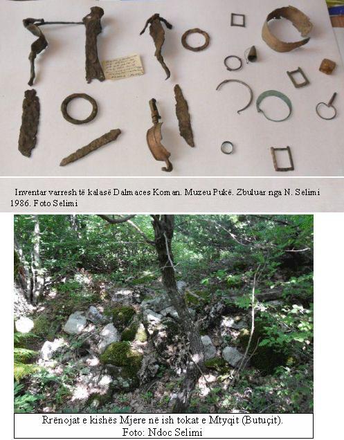 Inventar varresh në Dalmacë të Komanit