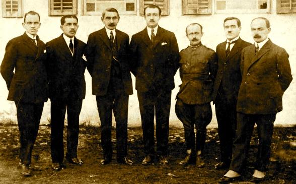 Ahmet Zogu dhe drejtues të Shtetit Shqiptar