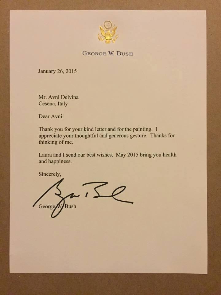 Letra e George W. Bush drejtuar Avni Delvines