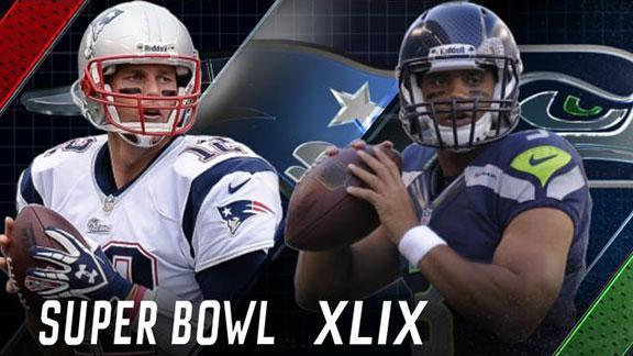 SuperBowl-XLIX - Brady vs Willson